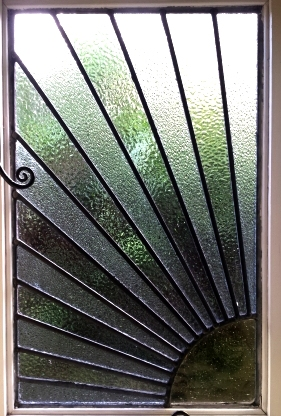 art deco stained glass-A121