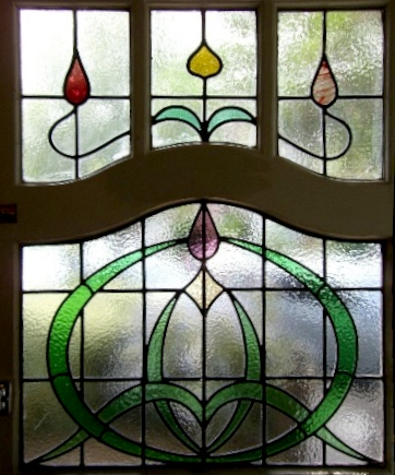 art deco stained glass-A122