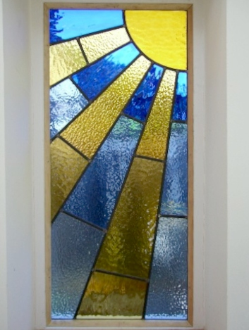 art deco stained glass-A125