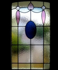 art deco stained glass-A127