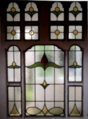 art deco stained glass-A128