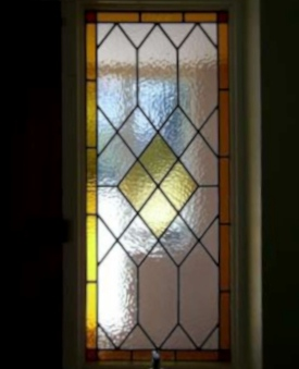 art deco stained glass-A130