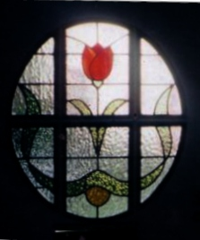 art deco stained glass-A133