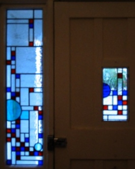 art deco stained glass-A134