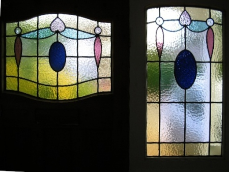 art deco stained glass-A136