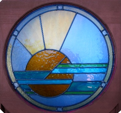 art deco stained glass-A137