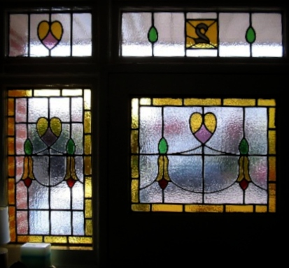 art deco stained glass-A139