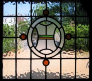 art deco stained glass-A140