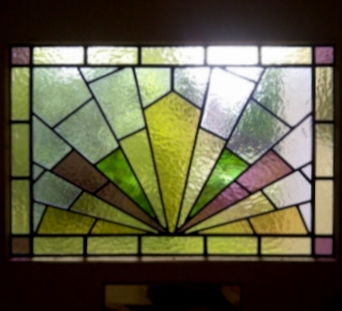 art deco stained glass-A221