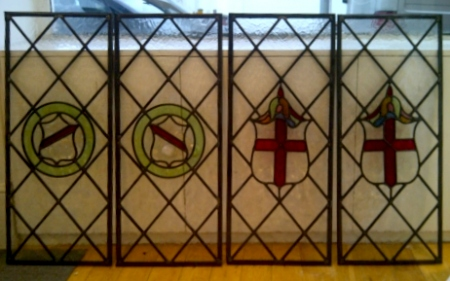 art deco stained glass-A225