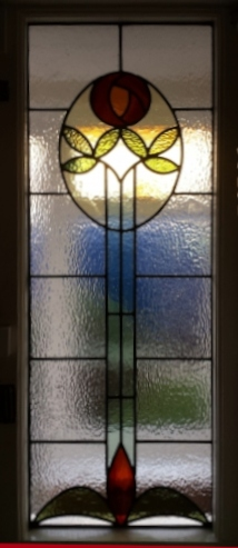 art deco stained glass-A227