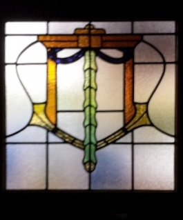 art deco stained glass-A228