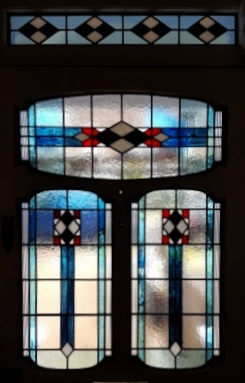 art deco stained glass-A230