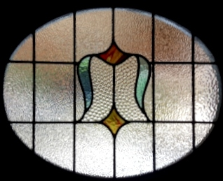 art deco stained glass-A232