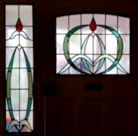 art deco stained glass-A233