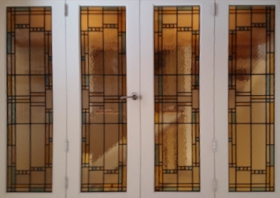 art deco stained glass-A234