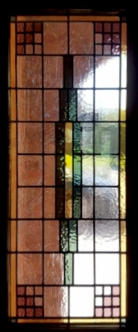 art deco stained glass-A236