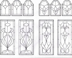 D104 - stained glass edwardian