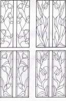 D115 - edwardian stained glass