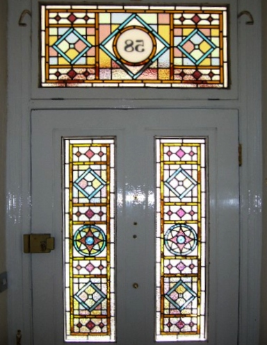 Victorian Stained Glass-V105