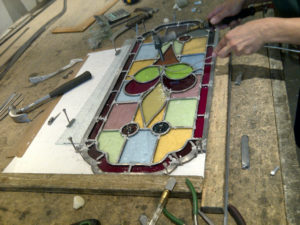 Coriander Stained Glass, Edwardian lead light