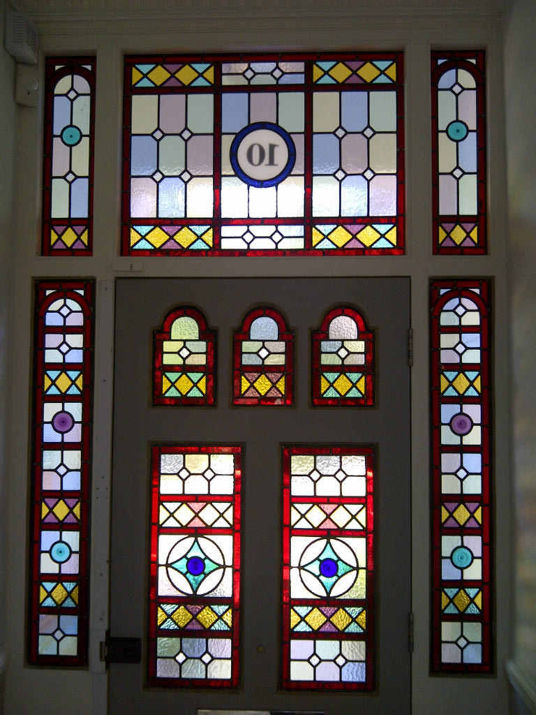 Coriander Stained Glass Victorian Geometric