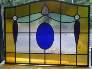 1930's Stained Glass Panel