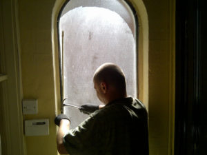 stained glass window preparation