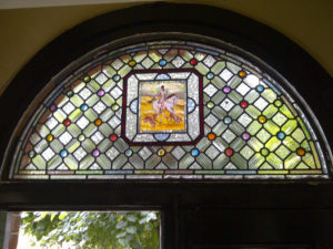 Victorian Stained Glass Geometric Final Piece
