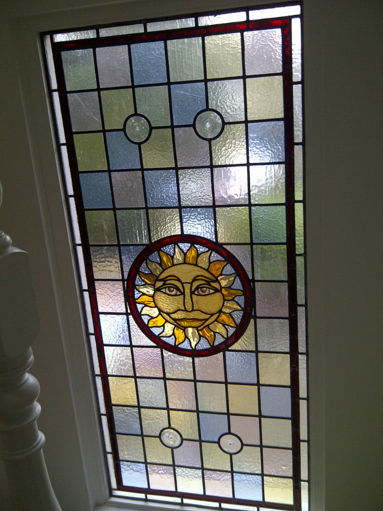 Leaded glass designs for windows - Hand Painted Victorian Stained Glass