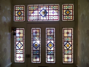 Victorian Geometric Stained Glass 4
