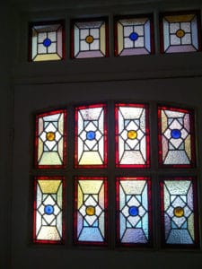 Victorian Geometric Stained Glass 3