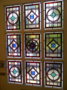 Victorian Geometric Stained Glass 1