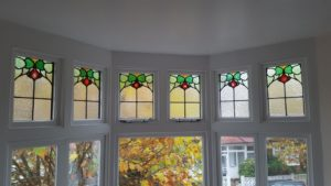 Edwardian/ Art Nouveau Stained Glass.